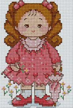 Bem vindo bebê! Small Cross Stitch, Cross Stitch Angels, Cross Stitch For Kids, Cute Cross Stitch, Cross Stitch Charts, Cross Stitch Patterns, Cross Stitching, Cross Stitch Embroidery, Stitch Toy