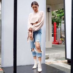 Nadine Lustre Ootd, Nadine Lustre Fashion, Nadine Lustre Outfits, Flattering Outfits, Trendy Outfits, Cool Outfits, Lady Luster, Teen Fashion, High Fashion