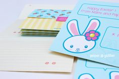 free printable easter card and envelope. Party Printables, Free Printables, Easter Crafts For Kids, Kid Crafts, Free Printable Cards, Note Cards, Stationery, Paper Crafts, Fonts