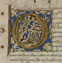 Manuscrits latins. Ciceronis liber de senectute, etc. Date d'édition : 1401-1500 Sujet : Peintures Sujet : Armes Type : manuscrit Langue : Latin