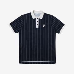 Originale  핀스트라이프 루즈핏 티셔츠 [오리지날레]핀스트라이프 루즈핏 티셔츠 (X2TSY304M_NV)