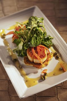 430 Duval offers enticing island inspired Small Plates with bold Caribbean spices and fresh local seafood created by Executive Chef Andrew Nguyen.  Pictured: Scallops   http://www.laconchakeywest.com/430-duval.aspx