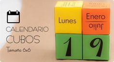 Cómo hacer un calendario con cubos. ¡Una idea original que no puede faltar en tu escritorio! ;)
