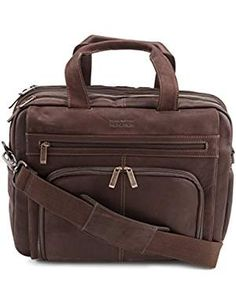 Kenneth Cole Reaction Luggage Out Of The Bag, Brown, One Size - - inch double gusset expandable top zip inch computer case Rich, Briefcase For Men, Leather Briefcase, Leather Bags, Luggage Brands, Cowhide Leather, Purses And Handbags, Messenger Bag, Briefcases, Brown