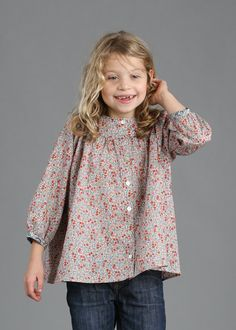 Girls Liberty of London Smock Shirt - Sizes 2 - 6 years