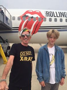 Keith with his grandson the day after (hides his hand) Indianapolis IN USA 4-July-2015 Rolling Stones live show updates