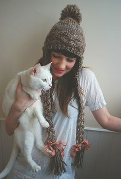Rapunzel hat from Tiny Owl Knits. Cat sold separately ;-)