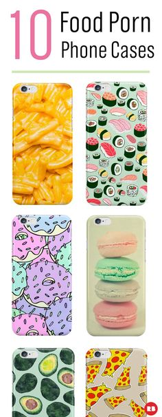 These cases are totally calorie free and non GMO! Get a taste of these 10 delicious phone cases. #foodie