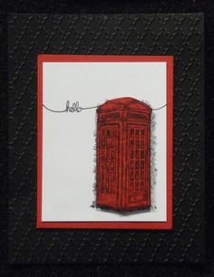 Old Fashioned Phone Booth image from Sale-a-bration Feeling Sentimental stamp set