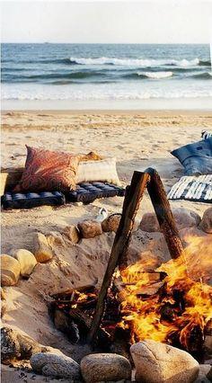 Beach bon-fire........