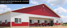 74'x66'x12' and 42'x70'x13' Cleary Dairy & Livestock Building in Monroe, WI | Colors: Cardinal, Snow,