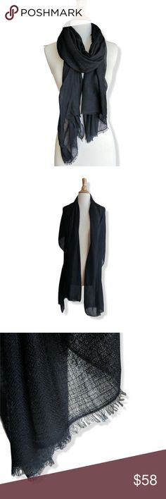 "100% Cashmere black scarf shawl NWOT Soft 100% cashmere scarf, black. Large enough to be work as a wrap or shawl.  Styles effortlessly: smart for work or casual with denim.   Men's or Women's Unisex.  Single Ply, brand new, never worn. 28"" x 74"".   From a smoke-free, cat-free home.   Woven in Nepal.   Due to natural materials & dyes there may be slight variations in color.    Also available in dove gray & teal. Check my closet (: Wonder Quest Lab Accessories Scarves & Wraps"
