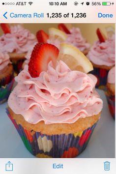 ✨✨2 Ingredient Strawberry Lemon Cupcakes✨✨ #Food #Drink #Trusper #Tip