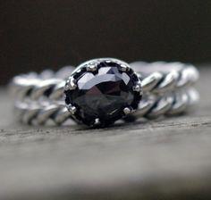 Choose Your Own Rose Cut Black Diamond Ring  by byzantiumlotus, $150.00