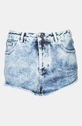 Topshop Moto 'Holly' Acid Wash Denim Shorts $60