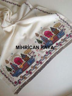 Eski bir deseni,ipek iplik ile hesap işi işledim. #hesapisi #handwork #embroidery #mywork