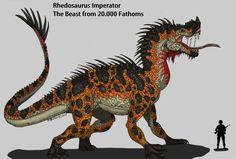 Rhedosaurus( зверь от 20.000 морских саженей) римейк по Hellraptor на deviantart