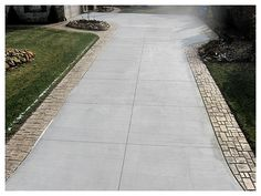 Driveway With Exposed Aggregate Border Driveways