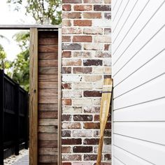 100 year old brick, timber and white cladded walls Weatherboard Exterior, Ranch Exterior, Bungalow Exterior, Stucco Exterior, Wall Exterior, Exterior Cladding, Exterior Remodel, Modern Exterior, Exterior Shutters