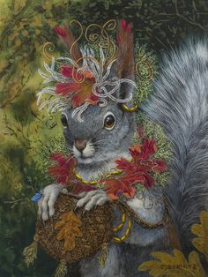 pin Anthropomorphic Art and/or Animals in Clothes . I hope you're in the mood for a bit of fun! 😁 This one is 'The Squirrel's Dream' by Carolyn Schmitz (from her Desert-dada series).