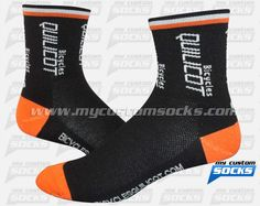 Socks designed by My Custom Socks for Bicycles Quilicot in Montreal, Canada. Cycling socks made with Coolmax fabric. #Cycling custom socks - free quote! ////// Calcetas diseñadas por My Customs Socks para Bicycles Quilicot en Montreal, Canada. Calcetas para Ciclismo hechas con tela Coolmax. #Ciclismo calcetas personalizadas - cotización gratis! www.mycustomsocks.com