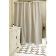 i can totally make the burlap shower curtain for CHEAP!  and i love this bath rug!