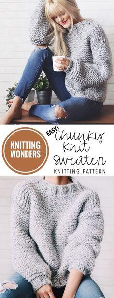 KNITTING PATTERN ⨯ Chunky Knit Sweater Pattern, Bulky Sweater Knitting Pattern ⨯ Easy Jumper Knitting Pattern, Beginner Sweater Knit Pattern - - Sweater Knitting Pattern ⨯ Chunky Knit Sweater, Women Pullover Pattern, The Campfire Sweater . Knitting Pullover, Easy Sweater Knitting Patterns, Knitting Designs, Knitting Sweaters, Pullover Sweaters, Knitting Stiches, Knit Patterns, Easy Patterns, Pattern Ideas