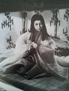 """Still from """"A Tale of Genji""""(Genji Monogatari) 1951, Machiko Kyo"""