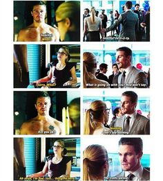 He cares alot about her  N knws her better  than anyone does  And she allows her walls down when she is around him  N vice versa  Olicity is endgame