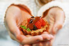 Tortinha de Morango e Caramelo