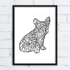 #dog #pies #grafika #buldog #rysunek #ilistracja #illustration #mandala #wzory #pozytywne #wnętrza