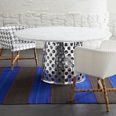 como round marble top dining table crate aluminum crate barrel