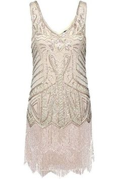 Women's Flapper Dresses V Neck Beaded Fringed Great Gatsby Dress Sparkly Prom Dresses, Plus Size Prom Dresses, Mermaid Prom Dresses, Cheap Dresses, Wedding Dresses, Bridesmaid Dresses, Formal Dresses, Great Gatsby Dresses, Flapper Dresses