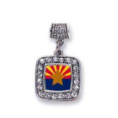 Arizona Flag Memory Charm http://www.inspiredsilver.com/ #InspiredSilver #Charm #Arizona