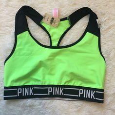 Victoria Secret Sports Bra XS Victoria Secret PINK CROP XS, 80% polyamide, 20% elastane Victoria's Secret Intimates & Sleepwear Bras