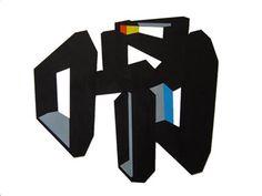 "Title: "" Encaje 2"" Acrylic on cut paper past6ed on cardboard. 50 x 40 cm. Signed: Alfonso Cintado 2010. 450 $"