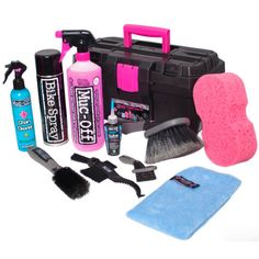 The Muc-Off Ultimate Bicycle Cleaning Kit covers all the bases when it comes to cleaning, protecting and lubing your bike. This kit isn't style specifi E Mtb, Bike Kit, Super Sets, Bicycle Maintenance, Cool Bike Accessories, Cleaning Kit, Cleaning Equipment, Road Bikes, Sport Bikes