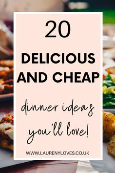 20 quick and easy dinner ideas that the whole family will love. Healthy dinner ideas that you must try tonight. Click to discover 20 family dinner ideas that are delicious and cheap. Don't ever be stuck of delicious dinner ideas again with that cheap and simple dinner ideas that everyone will love. Cheap Easy Meals, Cheap Dinners, Easy Recipes, Healthy Recipes, Cooking For One, Food To Make, Dinner Ideas, Good Food, Simple