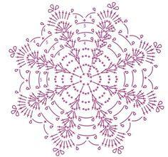 Crochet Pillow Patterns Part 11 - Beautiful Crochet Patterns and Knitting Patterns Crochet Snowflake Pattern, Crochet Pillow Pattern, Crochet Stars, Crochet Snowflakes, Crochet Flower Patterns, Crochet Diagram, Thread Crochet, Filet Crochet, Crochet Motif