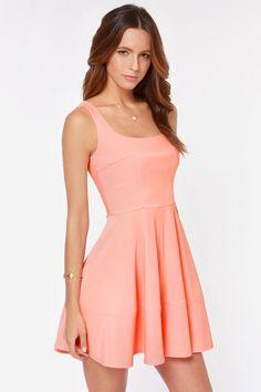Home Before Daylight Peach Dress at LuLus.com!