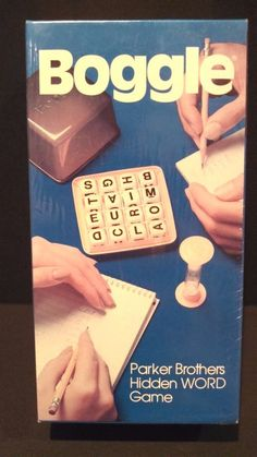 New Sealed Vintage 1980 Parker Brothers Boggle Hidden Word Board Game #ParkerBrothers