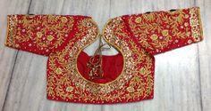 Beautiful handwork for bridal  #bridal #designer #red Get it done at myTailor.in