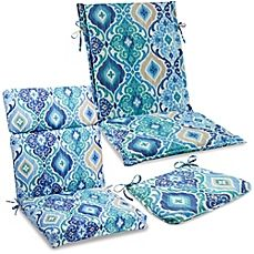A gorgeous array of blues brings a soothing ambiance to your patio with the Ikat Blue outdoor collection of cushions and throw pillows. Fade and stain-resistant, each provides a relaxing place to sit back and enjoy warm summer days and nights. Outdoor Cushions And Pillows, Bench Cushions, Toss Pillows, Outdoor Pillow, Enclosed Patio, Patio Swing, Relaxing Places, Patio Accessories, Blue Bedding