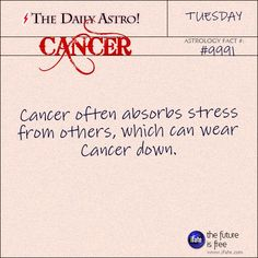 Cancer 9991: Visit The Daily Astro for more Cancer facts.and u can try a 100% free tarot reading here. :)