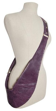 PRE-ORDER: Purple Genuine Leather Sash Bag