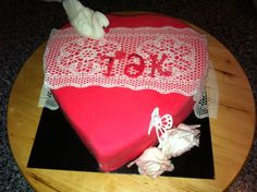 Thank you fondant cake