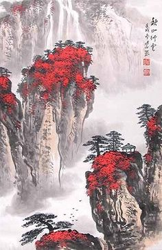 I have found a lot of pictures like this. Landscaping and portraits are most of the Chinese art. I enjoy pictures of nature