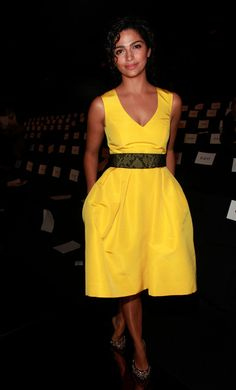 Camila Alves @ Monique Lhullier F12.  The color and shape are perfect.