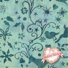Bali Christmas J2393-41 Aqua by Hoffman Fabrics