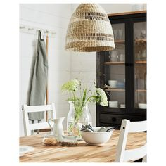 IKEA - TORARED, Pendant lamp shade, seagrass, Gives a soft glowing light, that gives your home a warm and welcoming atmosphere. Each lampshade is unique since it is made of seagrass with natural colour variations and is hand-woven by skilled craftspeople. Sala Ikea, Ikea Pendant Light, Pendant Lights, Pendant Lamps, Ikea Lighting, Bar Lighting, Modern Lighting, Lighting Design, Style Rustique